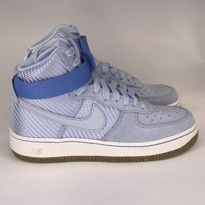 New Nike Women Air Force 1 HI Powder Blue Size 7